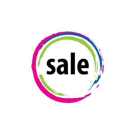 pattern design logo sale. Vector illustration of icon