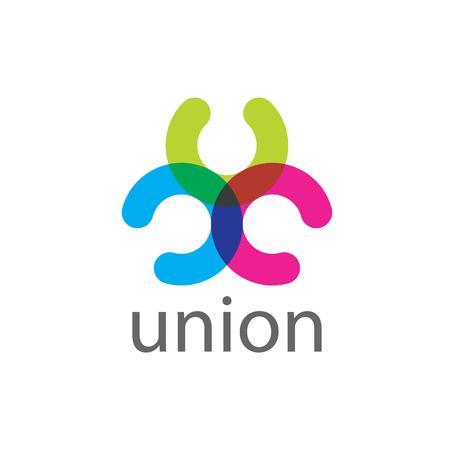 pattern design logo union. Vector illustration of icon