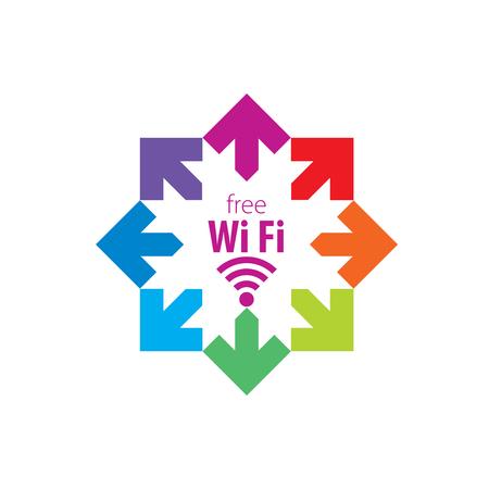 pattern design logo network. Vector illustration of icon