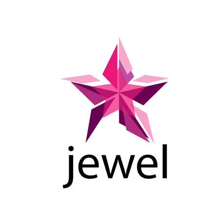 pattern design logo jewel. Vector illustration of icon