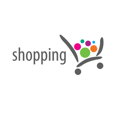 wzór logo sklepu. Ilustracja wektorowa ikony Logo
