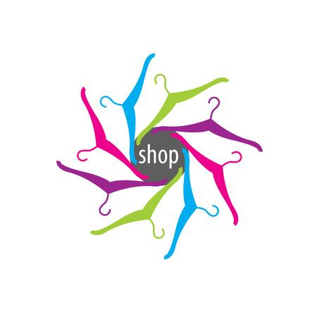 pattern design logo shop. Vector illustration of icon