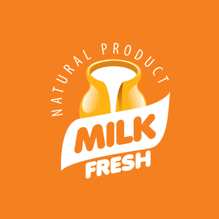 dairy products: Universal graphic vector logo for natural dairy products