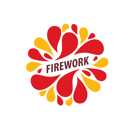 Abstract celebratory vector logo for salutes and fireworks