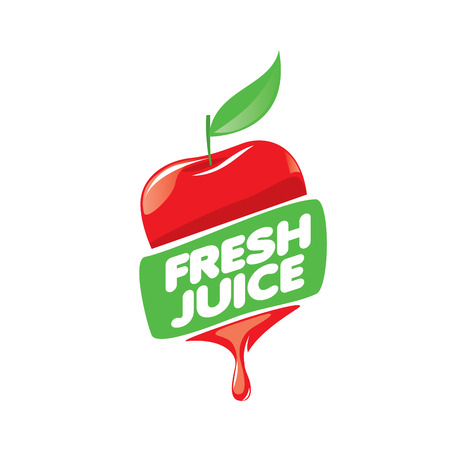 logo design template fresh juice. Vector illustration of icon