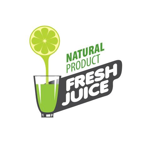 logo design template fresh juice. Vector illustration