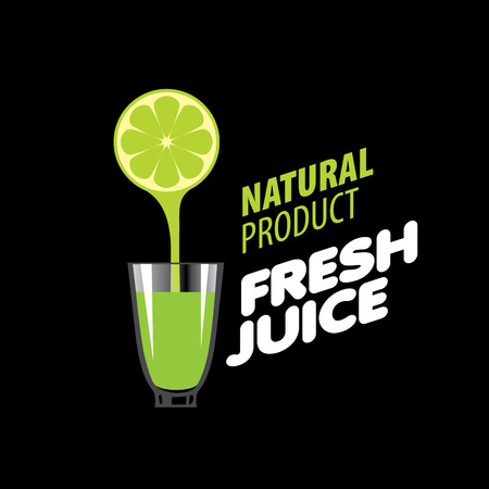 logo design template fresh juice. Vector illustration