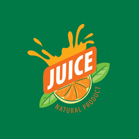 logo design template juice. Vector illustration of icon