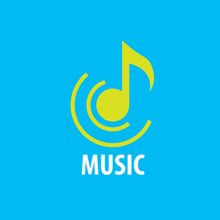 pattern design music logo. Vector illustration of icon