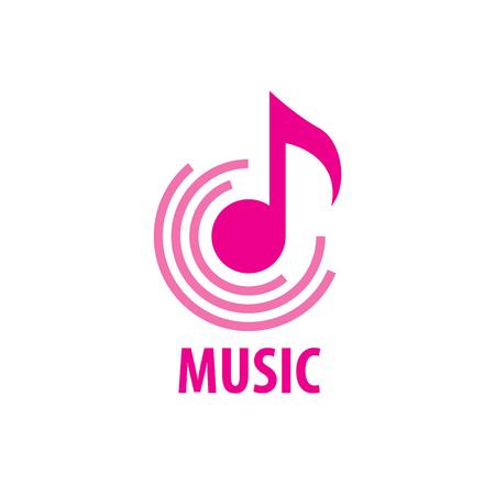 logotipo de música de diseño de patrón. Ilustración de vector de icono Logos