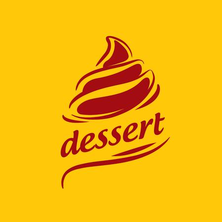 logo design template dessert. Vector illustration of icon Illustration