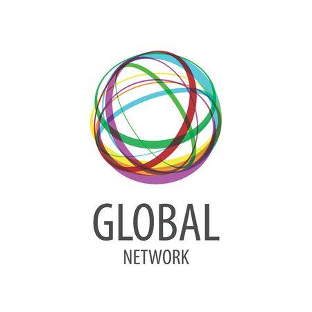 global design: logo design template global network. Vector illustration