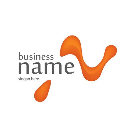 Letter N logo design. Technology logo in the form of atoms.