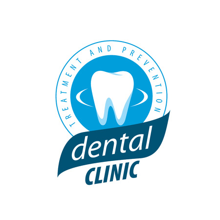 logo design template for dental clinic. Vector illustration  イラスト・ベクター素材