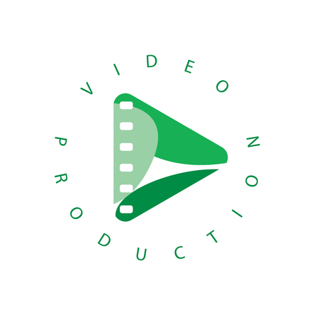 vector logo abstract play button. Vector illustration of icon