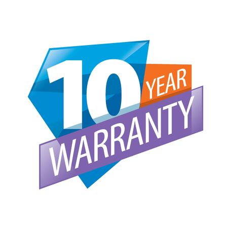 assure: logo 10 years warranty. Vector illustration of icon Illustration