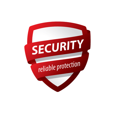 logo design template security. Vector illustration of icon
