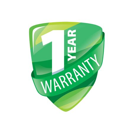 1 year warranty: logo 1 year warranty. Vector illustration of icon Illustration