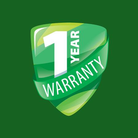 one year warranty: logo 1 year warranty. Vector illustration of icon Illustration