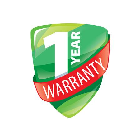 1 year: logo 1 year warranty. Vector illustration of icon Illustration