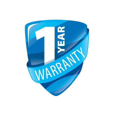 assure: logo 1 year warranty. Vector illustration of icon Illustration