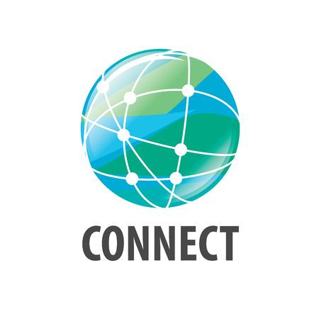 logo global network worldwide. Vector illustration of icon