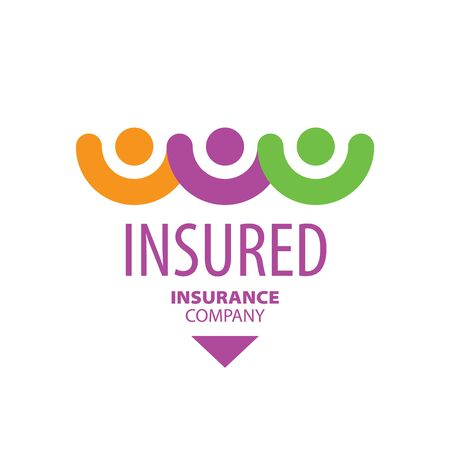 insured: logo people holding hands. Vector illustration of icon