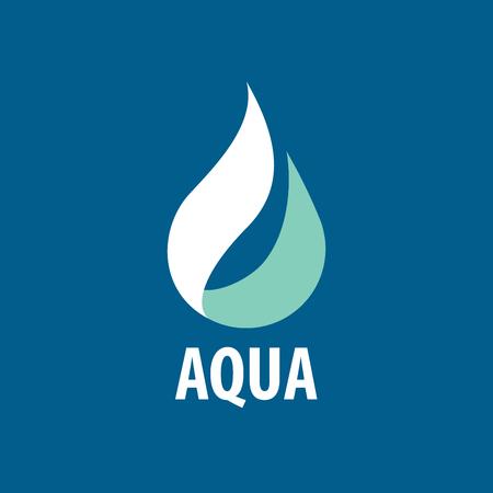 logo design template drop of water. Vector illustration Illustration