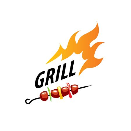logo design template barbecue. Vector illustration of icon