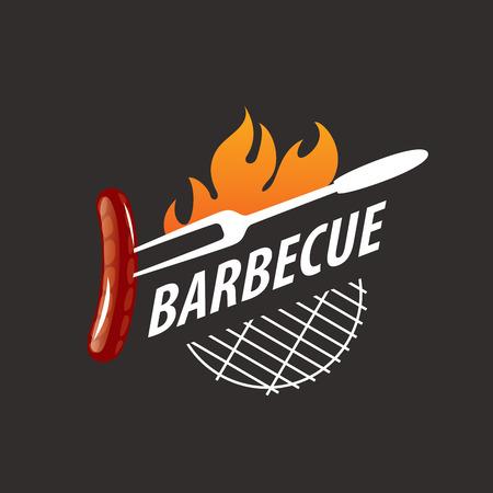 logo design template barbecue. Vector illustration of icon