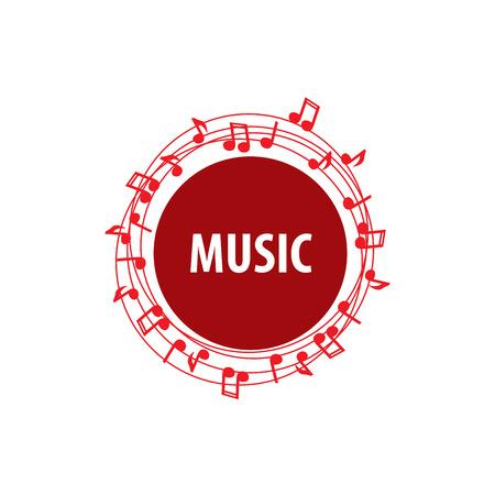 plantilla de diseño del logotipo de la música. Ilustración del vector del icono