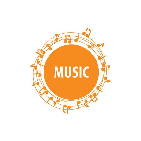logo music: template design logo music. Vector illustration of icon