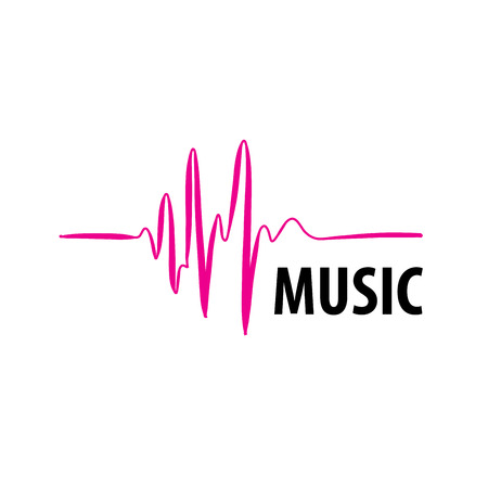 template design logo music. Vector illustration of icon
