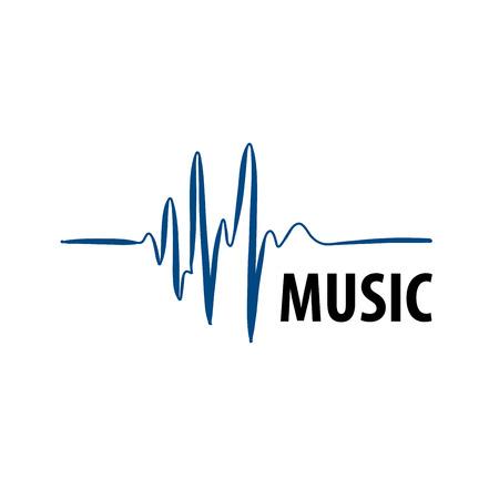 modello design logo musicale. Illustrazione vettoriale di icona Logo