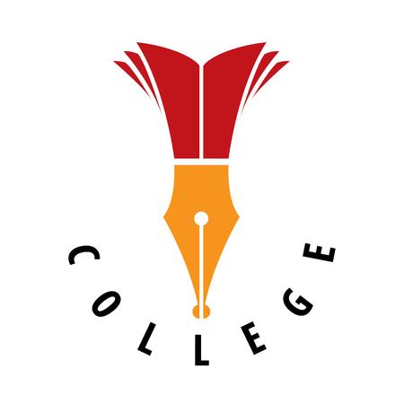 template design logo college. Vector illustration of icon Illustration