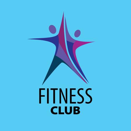 template design logo fitness. Vector illustration of icon