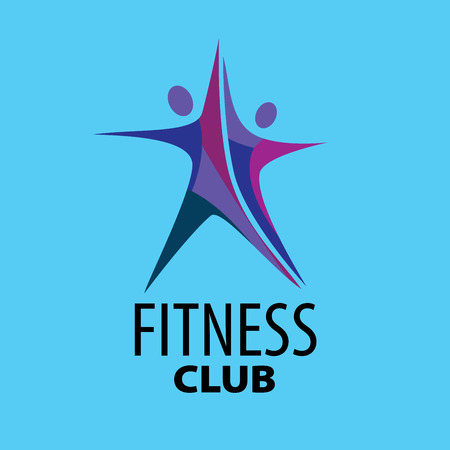 aerobic training: template design logo fitness. Vector illustration of icon