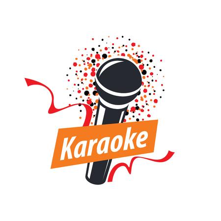 template design logo karaoke. Vector illustration of icon