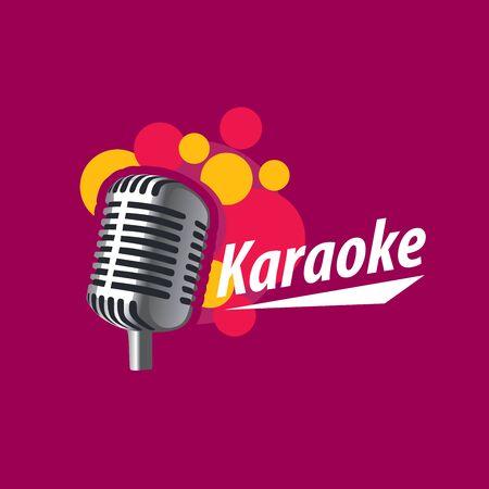 voices: template design logo karaoke. Vector illustration of icon