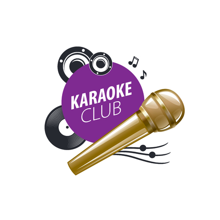 template design logo karaoke. Vector illustration of icon