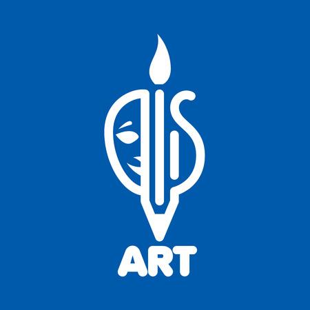 template design logo art. Vector illustration of icon Illustration