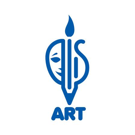 arpa: template design logo art. Vector illustration of icon Vectores