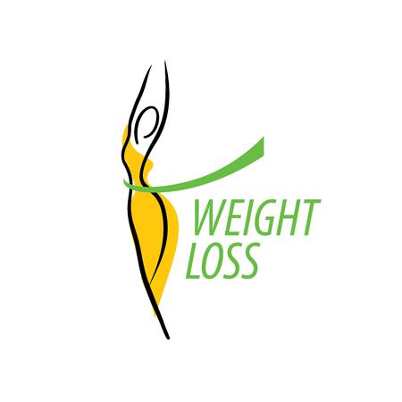modello di progettazione logo perdita di peso. Illustrazione vettoriale di icona Logo