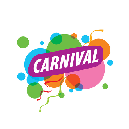 Abstract logo template carnival or festival. Vector illustration Illustration