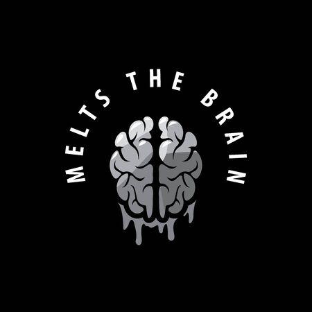 creative brain: template design logo brain. Vector illustration of icon Illustration