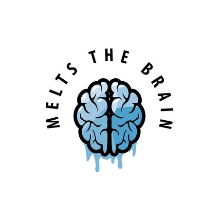 template design logo brain. Vector illustration of icon Illustration