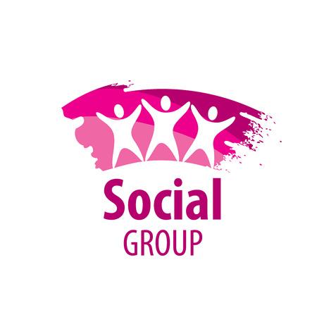 template design logo social group. Vector illustration of icon Illustration