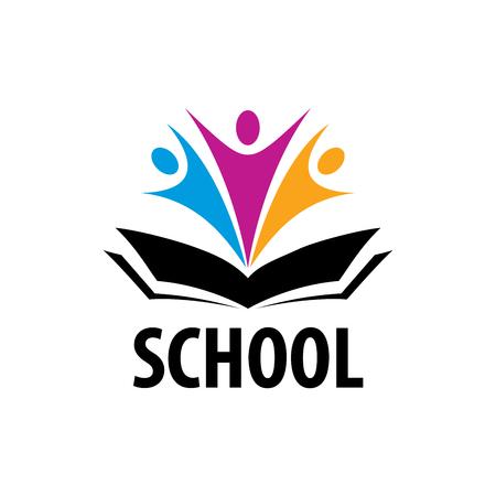 template design logo school. Vector illustration of icon