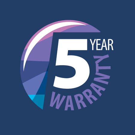 assure: logo 5 years warranty. Vector illustration of icon