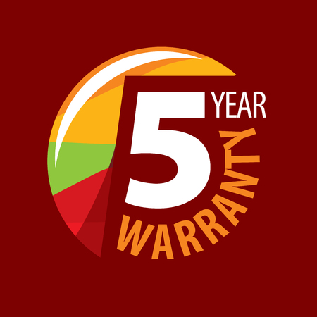 logo 5 years warranty. Vector illustration of icon